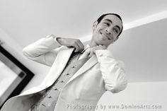Getting ready... #Wedding #portrait of the #groom by #DominoArts #Photography (www.DominoArts.com)