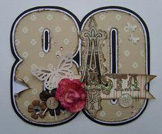 bydonna: 80 års fødselsdagskort