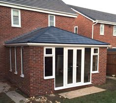 Solid, tiled Conservatory, designed and manufactured by Prefix Systems. See our websites for technical information
