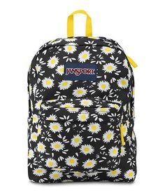 JanSport SuperBreak Backpack (Black Lucky Daisy) *** Continue to the product at the image link. Mochila Jansport, Sac Jansport, Jansport Superbreak Backpack, Cute Jansport Backpacks, Backpack Purse, Laptop Backpack, Black Backpack, Fashion Backpack, Rucksack Bag