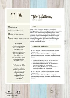 The Modern Resume Professional Resume Templates #resume #cv #etsy  ✽ Support Small .
