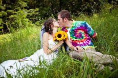 Sandy & Ben's volleyball and bonfire tie-dyed wedding via offbeatbride.com IMG_7814-1 by Sanmarie2011, via Flickr