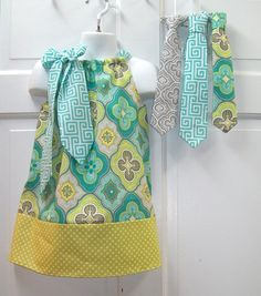 Pillowcase Dress and Matching Tie of your choice Infant to Size 4T