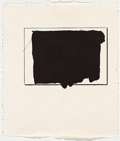 yama-bato:   Robert MOTHERWELL 1915 United States of America   – 1991 Night arrived 1981-83 planographic lithograph made from one aluminium plate, crayon