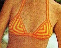 Women Crochet Bikini Top with Lace Ending Summer Cotton | Etsy