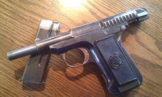 The Model 1907 : Though the .45 military version of the Savage pistol floundered, the civilian market was ripe for a small, easily wielded pistol. And with a few modifications, Savage had itself a viable product. From 1907 to 1913 the gun was available solely in .32 ACP, but at the end of the production run in 1920 Savage released a .380-model.  Despite Savage's attempts to popularize the additional caliber, its .32 was largely more popular.