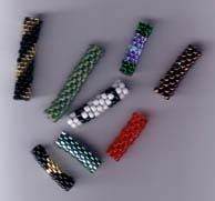 Betsy's Beaded Bugle Beads These wonderful, easy-to-make beaded bugle beads are the perfect compliment to silver or crystal beads for a special bracelet or necklace. A great embellishment for anything! Fifteen full-color patterns included!