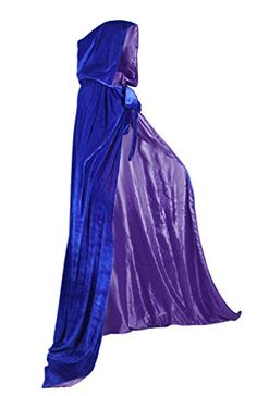 AngelWardrobe Halloween Hooded Cloak MEDIEVAL Wedding Cape SCA BlueDeep Purple L -- Want to know more, click on the image-affiliate link. #HalloweenCostumes