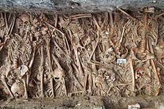 A recently discovered 'Plague Pit'. Bodies were piled into these deep pits usually every evening.