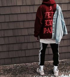 new styles be7f3 fd9bc  streetbeast  donning Kanye West s  The Life of Pablo  merch hoodie. Photo