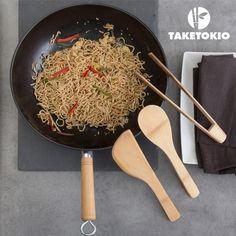 TakeTokio Bamboo Wok Set (4 pieces)