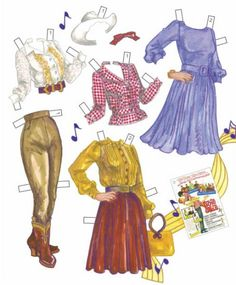 Connie Francis Paper Doll by David Wolfe - Paper Audio Press: (5 of 10)