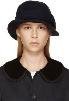 Comme des Garçons Comme des Garçons Navy Short Brim Hat