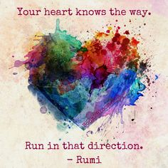 Explore inspirational, thought-provoking and powerful Rumi quotes. Here are the 100 greatest Rumi quotations on life, love, wisdom and transformation. Watercolor Heart Tattoos, Aquarell Tattoos, Herz Tattoo, Heart Painting, Alcohol Ink Art, Heart Art, Heart Shapes, Body Art, Artwork