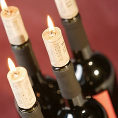 Wine Cork Candles by Beau-coup