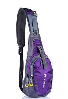 LC Prime® Sling Bag Chest Shoulder Unbalance Gym Fanny Backpack Sack Satchel Outdoor >>> You can get more details by clicking on the image.