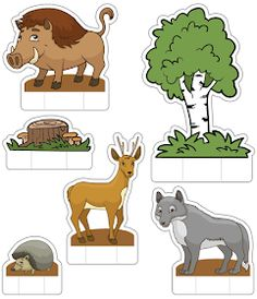 Teaching Kids, Kids Learning, Animal Crafts For Kids, Woodland Theme, Arte Pop, Cartoon Pics, Forest Animals, Book Activities, Kids And Parenting