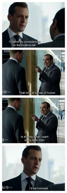 Louis Litt & Harvey #Suits #Season3 best man :)