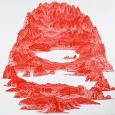 urban taster   stuff we like   Page 5 #illustration #mountains #red