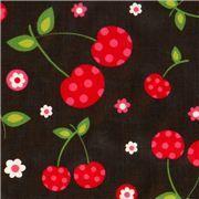 black cherries premium laminate fabric by Robert Kaufman - this place has lots of laminate fabric!