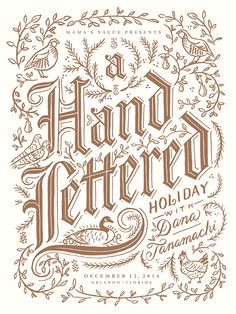 Hand-lettered Holiday Poster