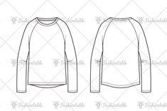 raglan t-shirt fashion flat Fashion Themes, Fashion Design, Kids Sportswear, Flat Sketches, Technical Drawings, Dance Shirts, Drawing For Kids, Fashion Flats, Art Reference