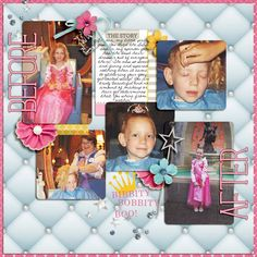 Disney Project Life page created by becca1976 featuring Project Mouse Princess by Sahlin Studio & Britt-ish Designs