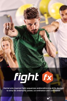 Martial arts-inspired fight sequences and conditioning drills devised to strip fat and amplify power, co-ordination and confidence.