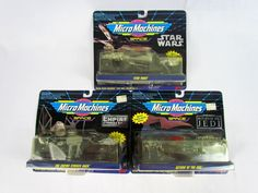 Micro Machines STAR WARS SPACE Collection of 3 Vehicle Sets ROTJ ESB NEW SEALED