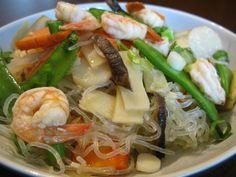 Paleo Shrimp Chow Mein (kelp noodles)