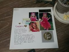 Heidi Swapp Storyline - my first layout following Heidi's live Facebook tutorial !!!