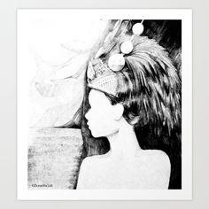 Samoan Princess Art Print by MartinLW - $15.60