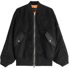 Alexander Wang Boyfriend Bomber Jacket (28 110 UAH) ❤ liked on Polyvore featuring outerwear, jackets, coats & jackets, black, blouson jacket, alexander wang jacket, flight jacket, oversized jacket and urban jackets