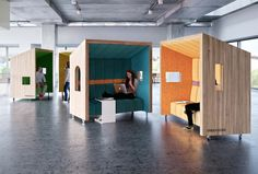 Baumhaus Office Pods - Co-Working Spaces - Trend Möbel Design Modular Furniture, Design Furniture, Interior Tropical, Office Pods, Open Office, Contract Furniture, Co Working, Coworking Space, Office Interiors