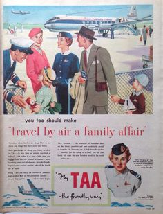 TRANS AUSTRALIAN AIRLINES TAA VISCOUNT AD 1955 original vintage advertising