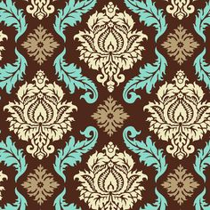 Damask - bark and blue  I want this in a wall paper!!! love it!!!