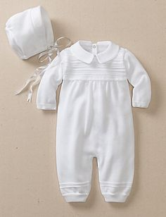 All In White Romper from #HannaAndersson.