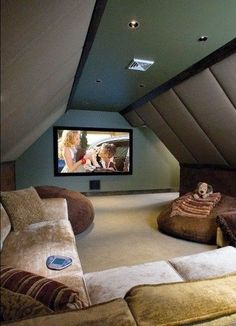 Attic Movie Room.  #attic  #formyhome