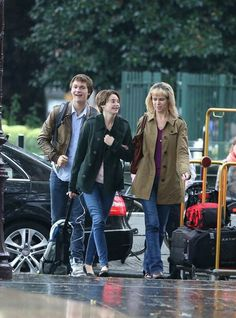 Shailene Woodley and Ansel Elgort filming 'The Fault in Our Stars' in Amsterdam