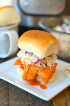 These spicy electric pressure cooker chicken sliders are the perfect appetizer or dinner for your family! Get ready for Super Bowl with your Instant Pot and just 3 ingredients to make the easiest snack that will fly off the table at your party this year. Bring on the heat!