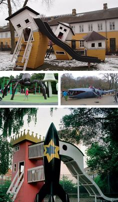 these playgrounds by Danish design firm Mostrum
