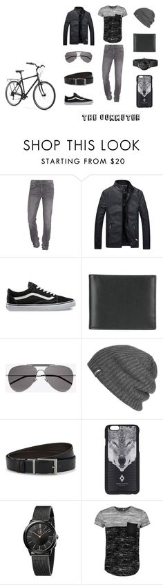 """The Commuter"" by debbie-keating-de-juan ❤ liked on Polyvore featuring True Religion, Vans, Ettinger, Yves Saint Laurent, Outdoor Research, HUGO, Marcelo Burlon, Calvin Klein, Boohoo and men's fashion"