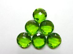 Charming Full Peridot Quartz 6 Pieces Gorgeous Top by StarGemBeads