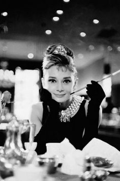 Unknown - Audrey Hepburn - Breakfast BW - art prints and posters