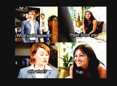 #Charmed Literally the ONE time I like Prue with her funniness cuz she was actually funny