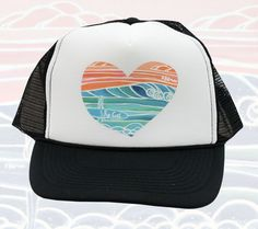 Women's trucker hat made in Hawaii with Rip Curl