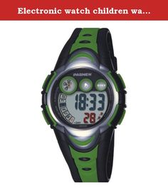 Electronic watch children watch / Girls Boys Watches / waterproof sports watch / running high school students watch-green. Watches Mirror Material: plexiglass mirror Movement Type: Electronic Watch Type: Children Style: Cute Strap Material: Rubber Shape: Round display: digital waterproof depth: 30 meters life waterproof additional features: 24 hours indicates the calendar alarm table debit formula: buckle bottom of the table type: crown type: dial thickness: 14mm dial diameter: 41mm pop...