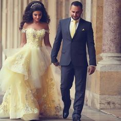 BEAUTY AND THE BEAST DISNEY THEMED WEDDING | GOLD | ROSES | OPULENT | PRINCESS | WEDDING DRESS | BELLE | YELLOW BALL GOWN | A LINE | CHIFFON | OFF THE SHOULDER | APPLIQUE LACE | RUFFLE