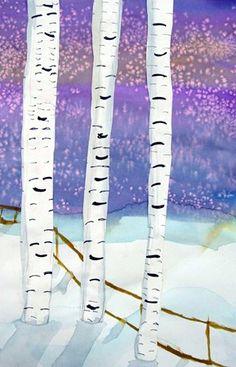 Art lesson ideas, tips, and general information for art teachers everywhere. Winter Art Projects, School Art Projects, Canvas And Cocktails, January Art, Birch Tree Art, 6th Grade Art, Preschool Art, Art Lesson Plans, Art Classroom