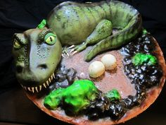 DINOSAUR CAKE  | dinosaur cake and I have only done less than a handfull of 3D cakes ...